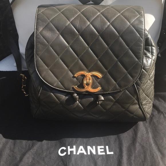 2f142026240b CHANEL Bags | Addl Pics Of Taupe Jumbo Backpack | Poshmark